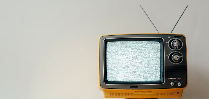 Old tv with antenna