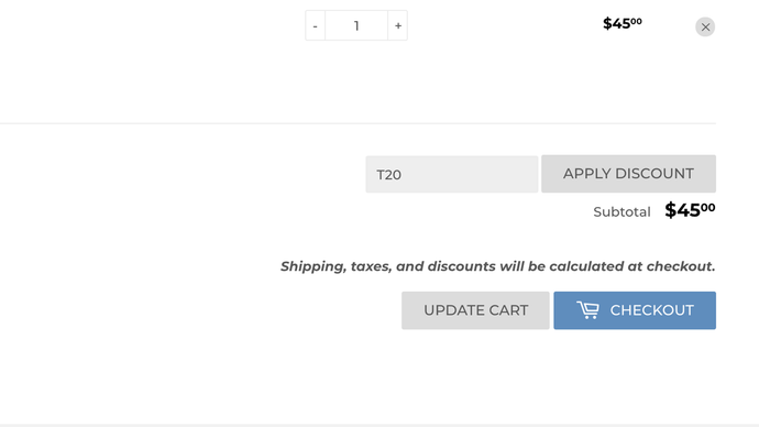 Coupon Field in Cart