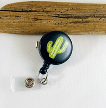 Load image into Gallery viewer, Retractable Badge Reel - Cactus
