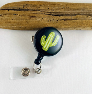 Retractable Badge Reel - Cactus
