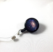 Load image into Gallery viewer, Retractable Badge Reel - Galaxy Star