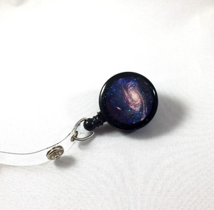 Retractable Badge Reel - Galaxy Star
