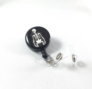 Retractable Badge Reel - Skeleton