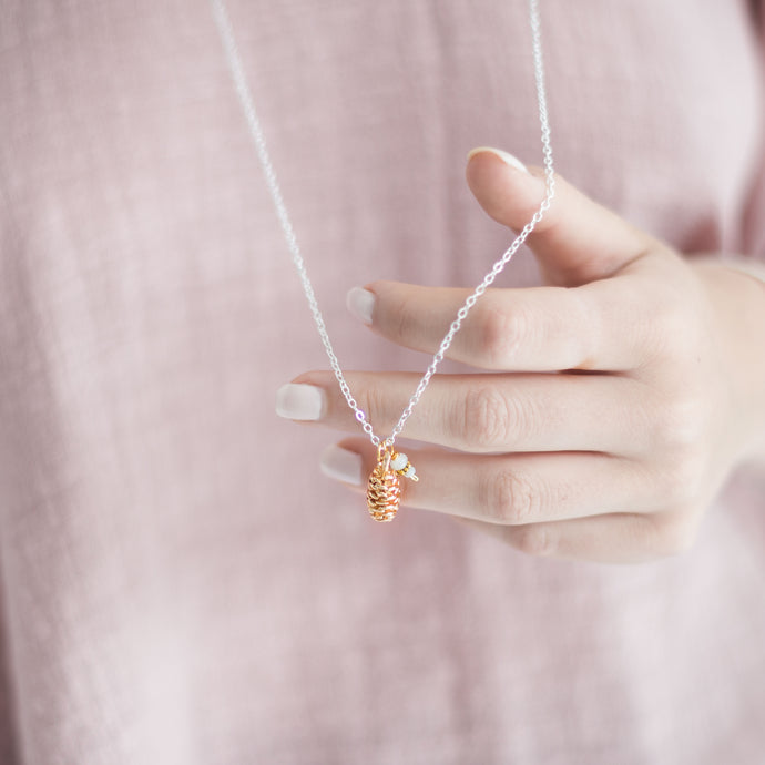 Pinecone Pendant Charm Necklace