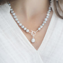 Load image into Gallery viewer, Silver Grey Baroque Pearl Necklace