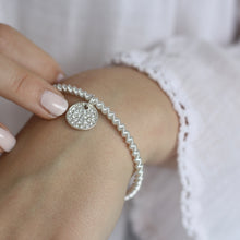 Load image into Gallery viewer, Sparkly Pave Coil Stretch Bracelet