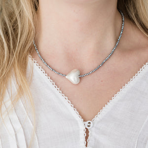 Sparkle Silver Heart Necklace