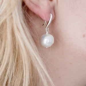 Large Freshwater Pearl Ball Earrings