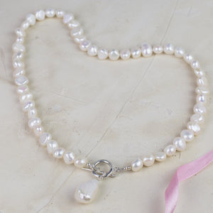 Freshwater and Baroque Pearl Silver Necklace
