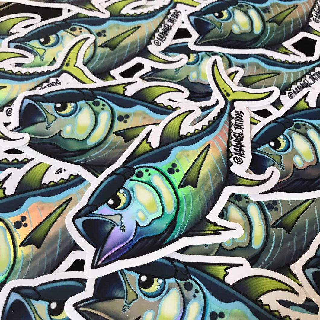 """Kahuna Tuna"" Foil Decal"