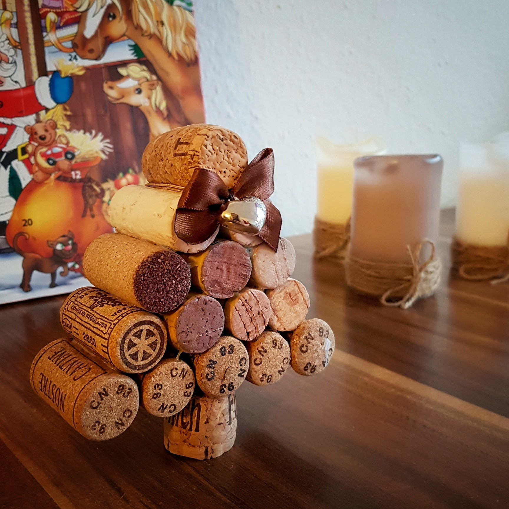 DIY Wine Cork Chistmas Tree