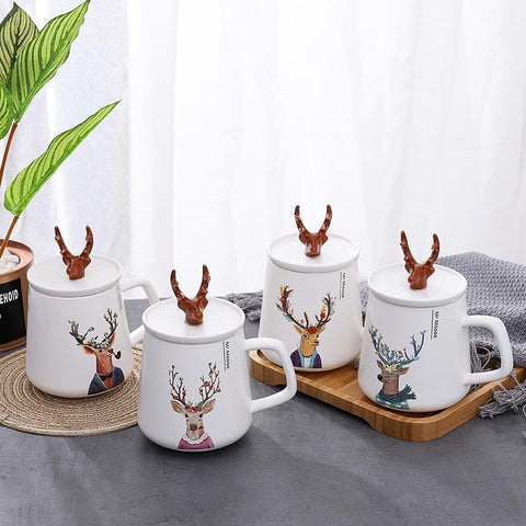 Ceramic Mulled Wine Deer Mug - Wine Is Life Store