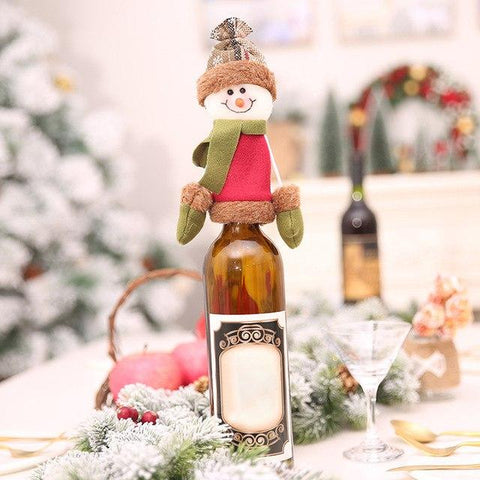 Christmas Bottle Decor - Wine Is Life Store