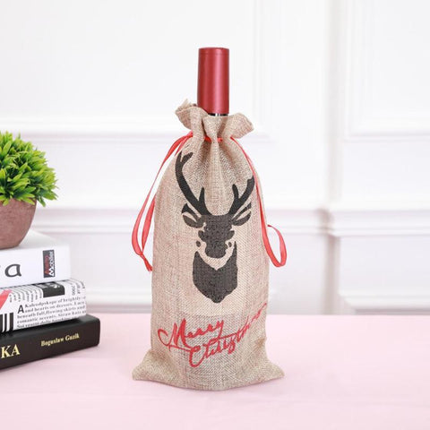 Christmas Deer Wine Bottle Bag - Wine Is Life Store