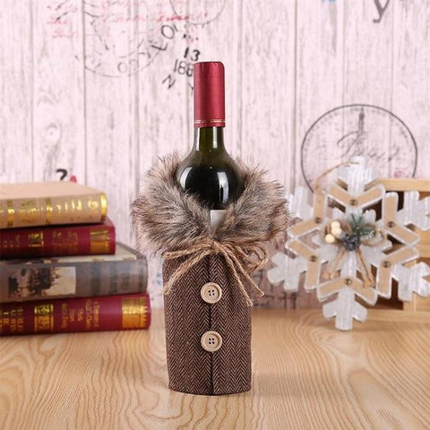 Christmas Wine Bottle Coat - Wine Is Life Store