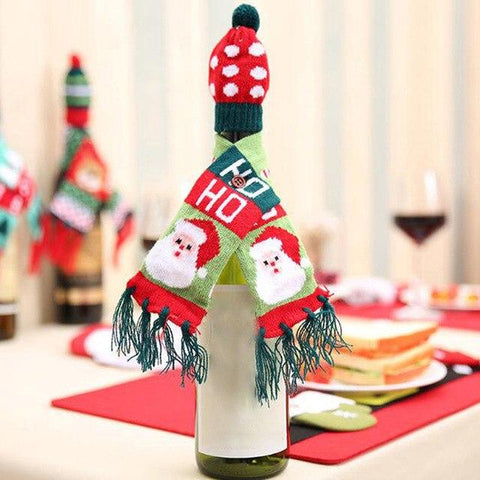 Christmas Wine Bottle Cover - Wine Is Life Store