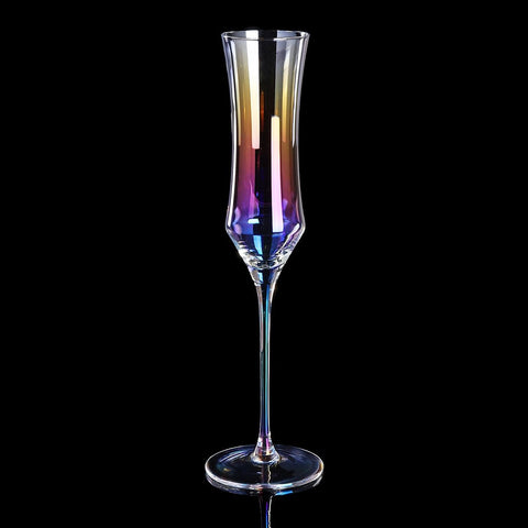 Classic Rainbow Champagne Glass - Wine Is Life Store