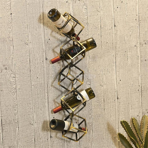 Creative Geometric Wine Bottle Hanging Rack - Wine Is Life Store