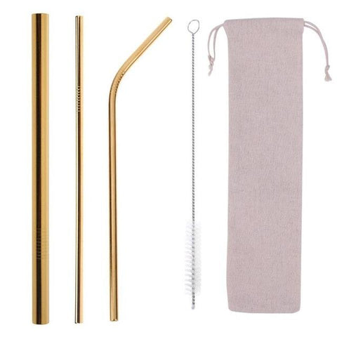 Eco-Friendly Reusable Straw Set - Wine Is Life Store