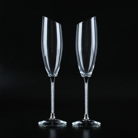 Elegant Champagne Wedding Glasses (Flutes) - Wine Is Life Store