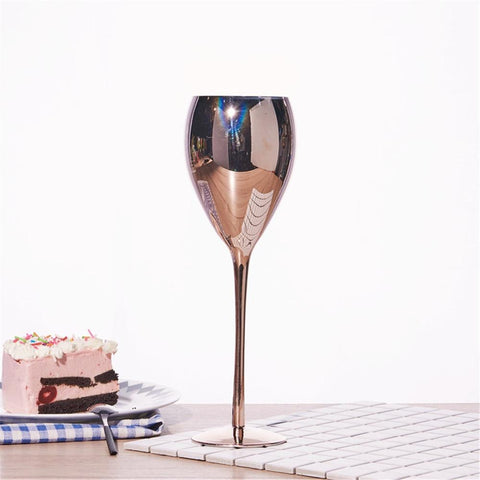 Golden Rosé Wine Glass - Wine Is Life Store