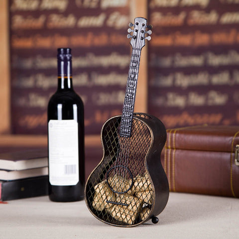 Guitar Wine Cork Container - Wine Is Life Store
