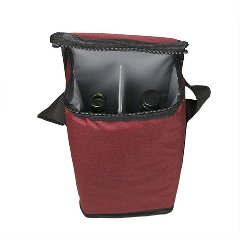 Portable Two-compartment Wine Insulation Thermobag - Wine Is Life Store