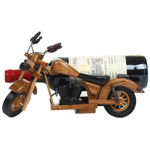 Retro Wooden Bike Bottle Holder - Wine Is Life Store