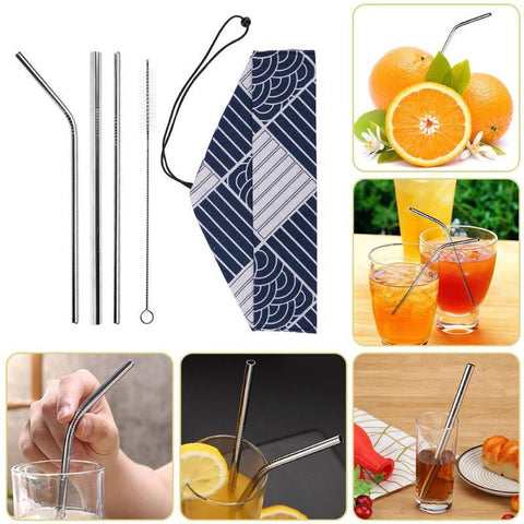 Reusable Metal Drinking Straws - Wine Is Life Store