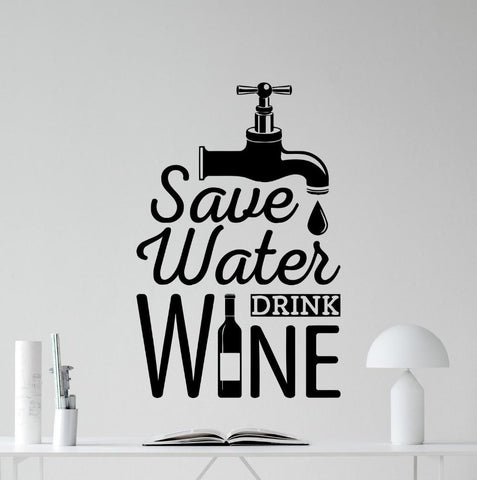Vinyl Wall Poster/Sticker - Wine Is Life Store