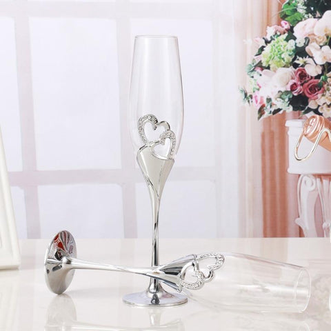 Wedding Champagne Glasses (Flutes) - Wine Is Life Store