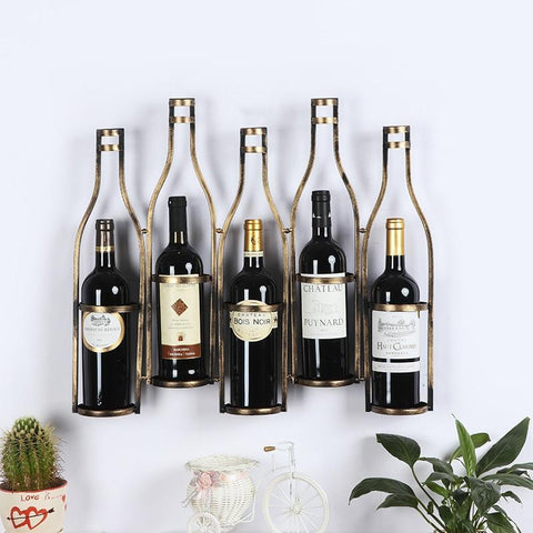 Wine Bottle Metal Wall Rack (Holder) - Wine Is Life Store