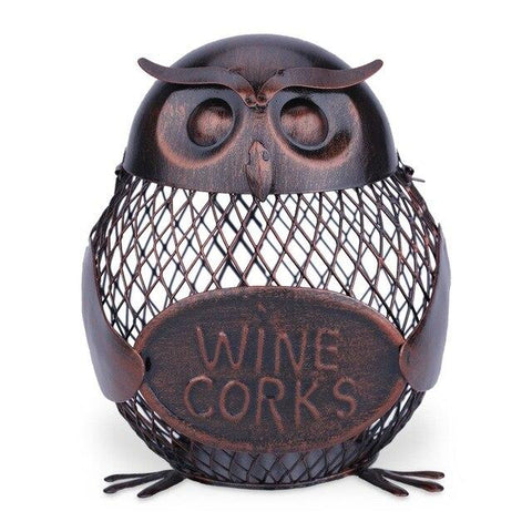 Wine Cork Container Owl - Wine Is Life Store