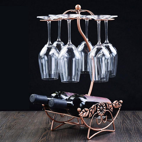 Wine Glass & Bottle Holder - Wine Is Life Store