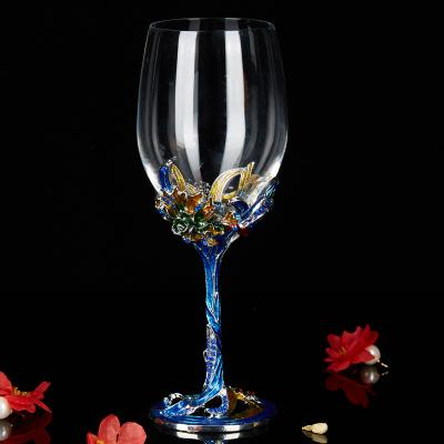 Wine Glass with Decorated Stem - Wine Is Life Store