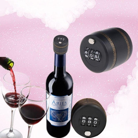 Wine Stopper with Password Lock - Wine Is Life Store