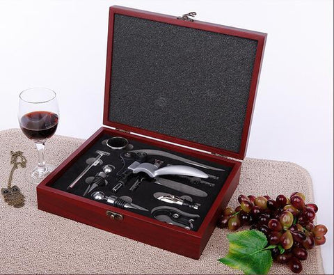 Wine Tools Gift Set (Wooden Box) - Wine Is Life Store