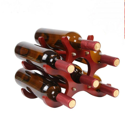 Wooden Minimalistic Bottle Rack - Wine Is Life Store