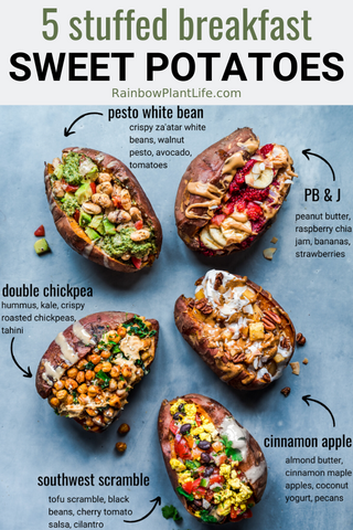 Stuffed Sweet Potatoes 5 Ways