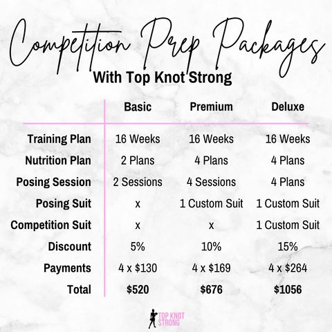 Top Knot Strong Bikini Competition Prep Packages