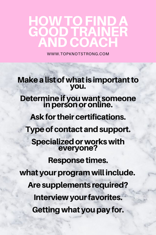 How to find a good trainer and coach