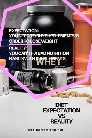diet expectation 3 - you need to buy supplements in order to lose weight