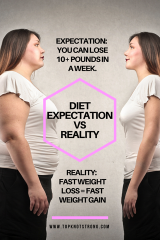 expectation 4 - you can lose 10 + pounds in a week