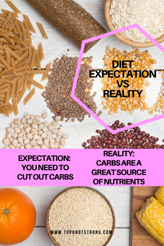diet expectation 5 - you can't have carbs