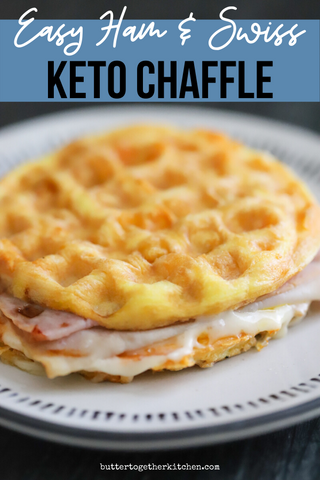 Easy Ham and Swiss Chaffle