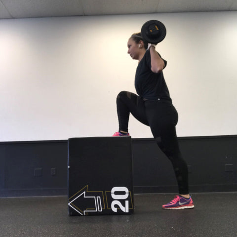 Top Knot Strong High Step Ups