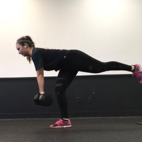 Top Knot Strong Single Leg Deadlifts