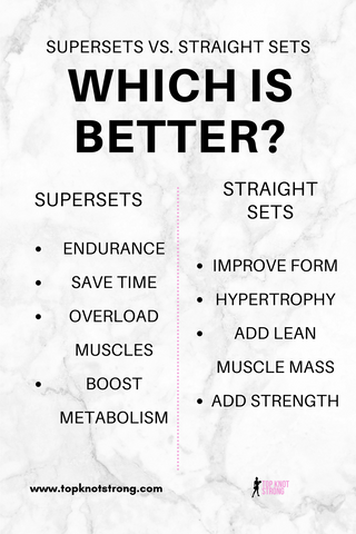 Supersets vs. Straight Sets - which is better with the pros and cons of it all