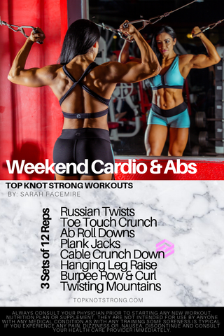 weekend cardio and abs workout from top knot strong