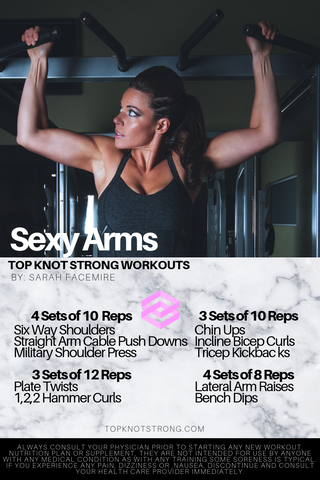 sexy arms workout top knot strong